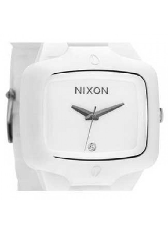 Nixon Rubber Player White Silicone Mens Watch - A139-100-dial