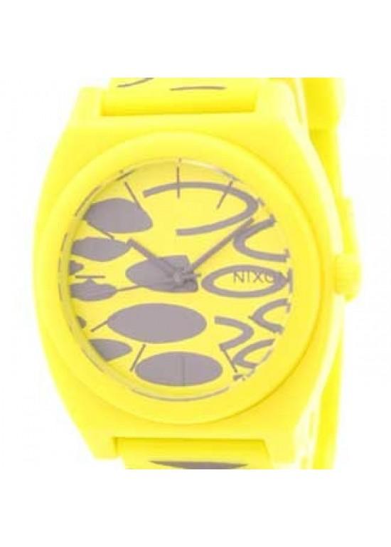 Nixon Time Teller Yellow Plastic Ladies Watch - A119-590-dial