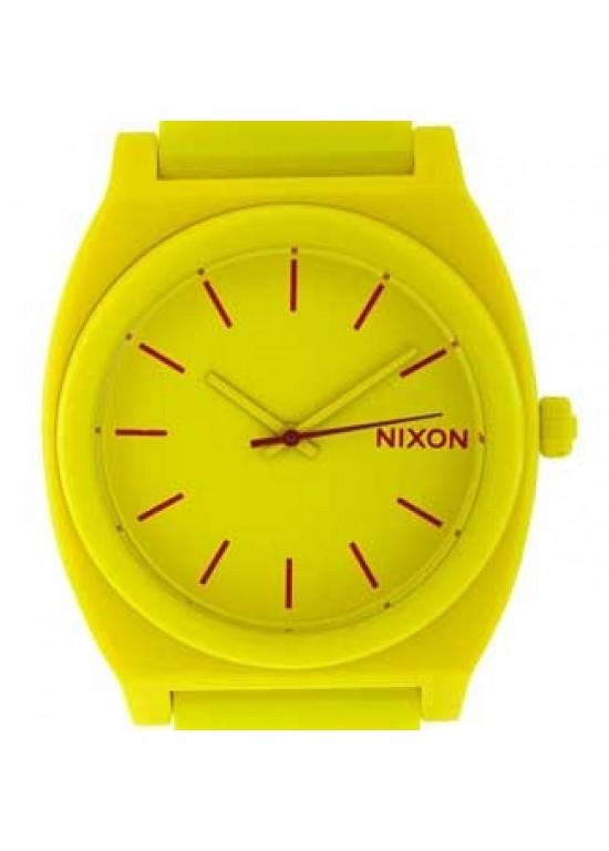 Nixon Time Teller Yellow Polycarbonate Mens Watch - A119-250-dial