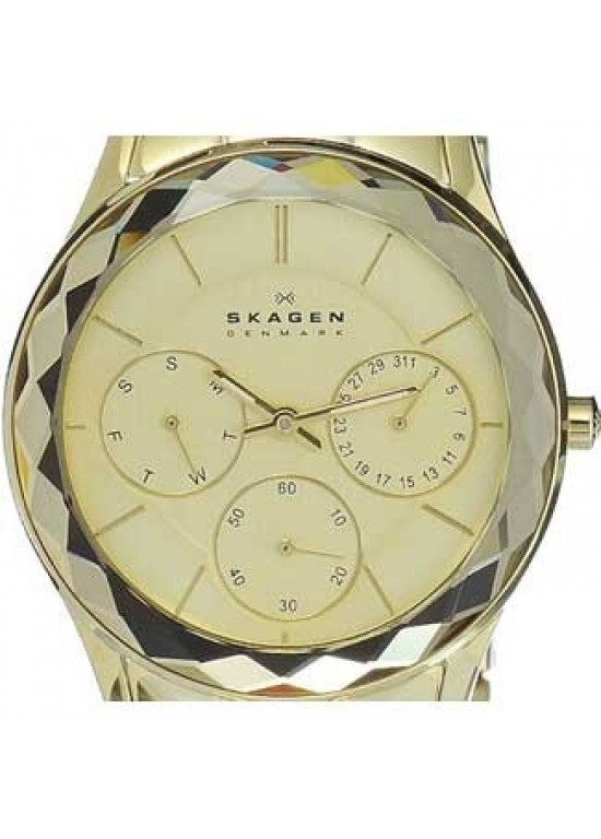 Skagen Steel Collection Gold Tone SS Ladies Watch - 344LGXG-dial