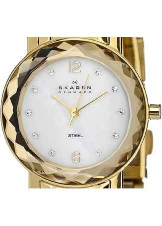 Skagen Steel Collection Gold Tone Ss Ladies Watch - 457SGGX-dial