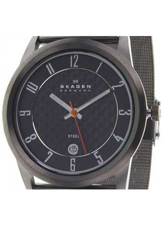 Skagen Steel Collection Grey PVD Ss Unisex Watch - 124XLMMC-dial