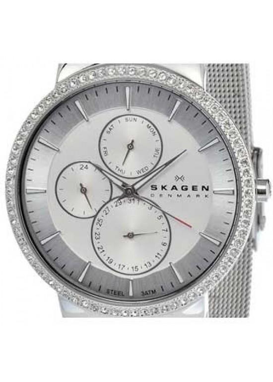Skagen Steel Collection Stainless Steel Ladies Watch - 357XLSSS-dial