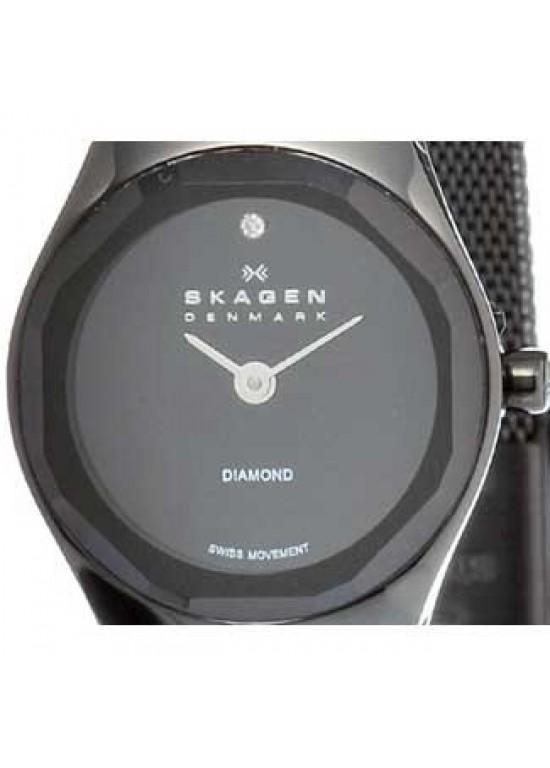 Skagen Steel Collection Stainless Steel Ladies Watch - 432SBSB-dial