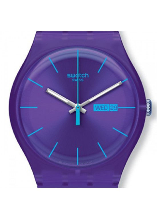 Swatch 'Purple Rebel' Watch SUOV702-Dial