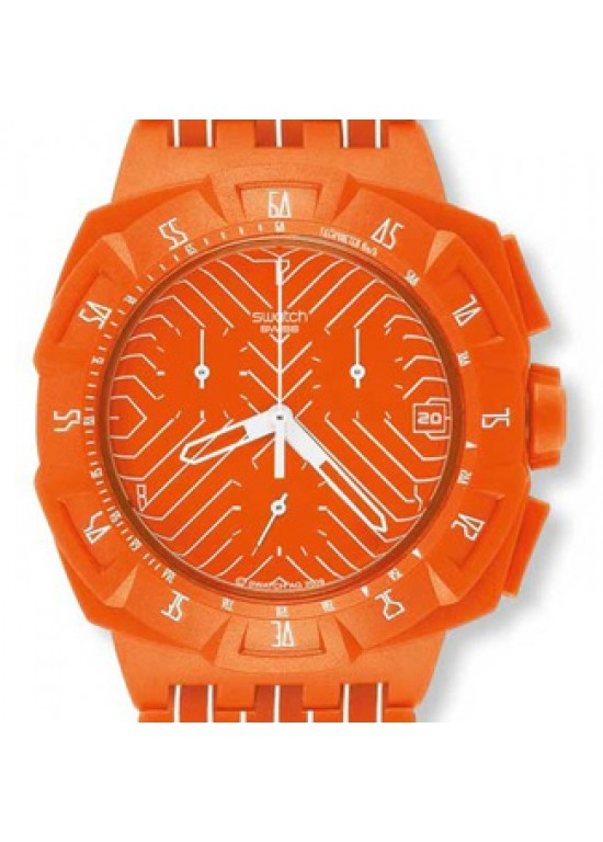 Swatch FLASH RUN Chronograph Watch SUIO400-Dial