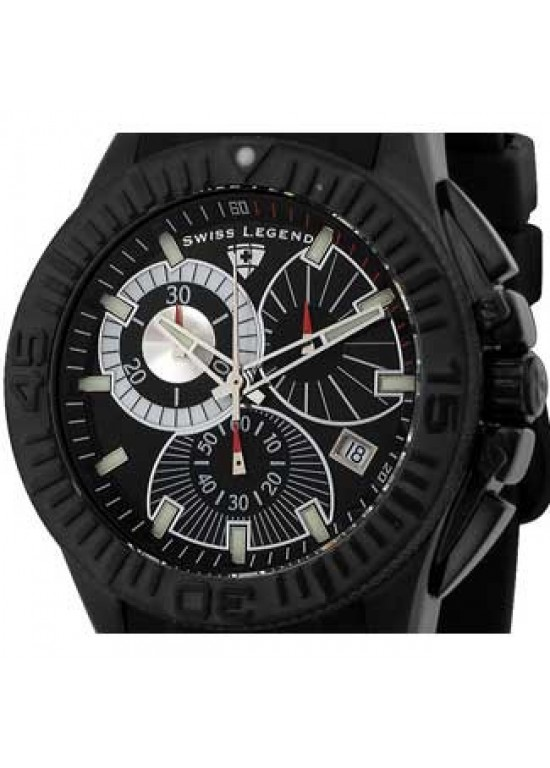Swiss Legend Evolution Black Ion Plated SS Mens Watch - SL-50064-BB-01-dial