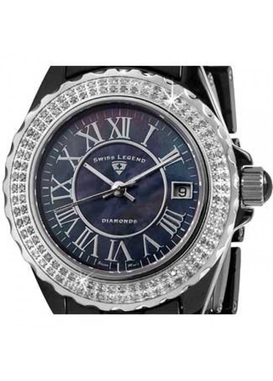 Swiss Legend Karamica Ceramic Ladies Watch - SL-20051-WBKBSR