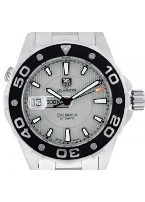 Tag Heuer Aquaracer Brushed SS Mens Watch - WAJ2111.BA0870-dial