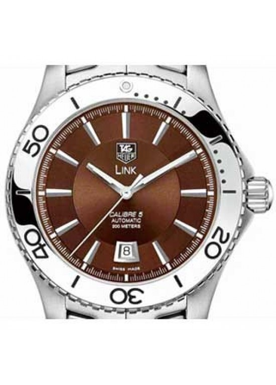 Tag Heuer Caliber 5 Stainless Steel Mens Watch - WJ201D.BA0591-dial