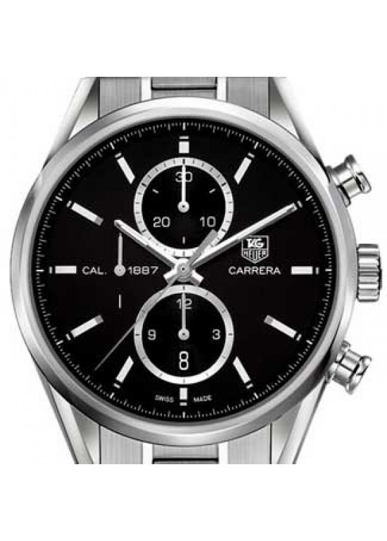 Tag Heuer Carrera Stainless Steel Mens Watch - CAR2110.BA0720-dial