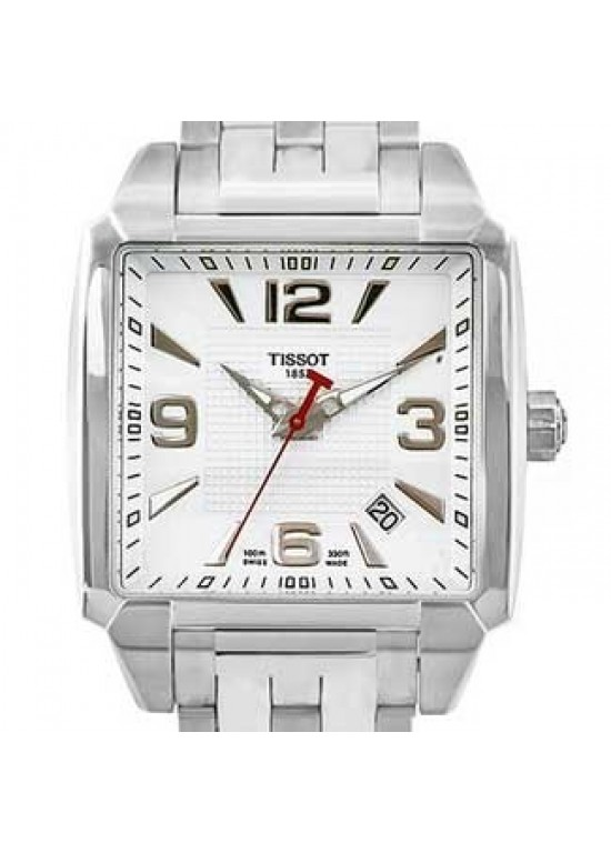 Tissot Quadrato Stainless Steel Mens Watch - T0055101127700-dial