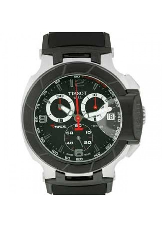 Tissot T-Race Stainless Steel Mens Watch -T0484172705700-dial