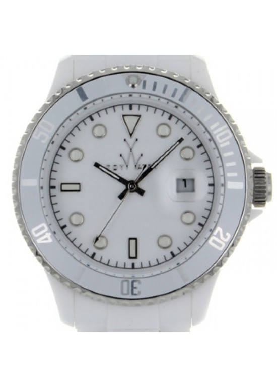 Toy Watch Plateramic White Plastic Unisex Watch - PCL02WH-dial