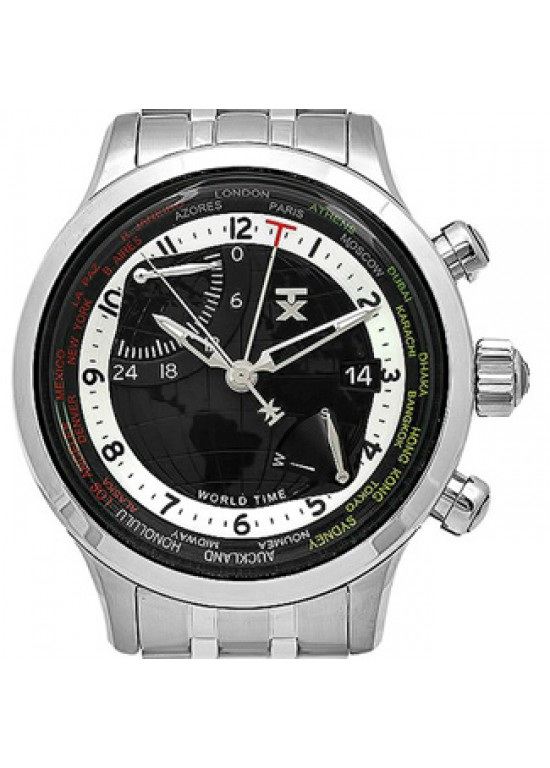 TX World Time Stainless Steel Mens Watch - T3C477-Dial