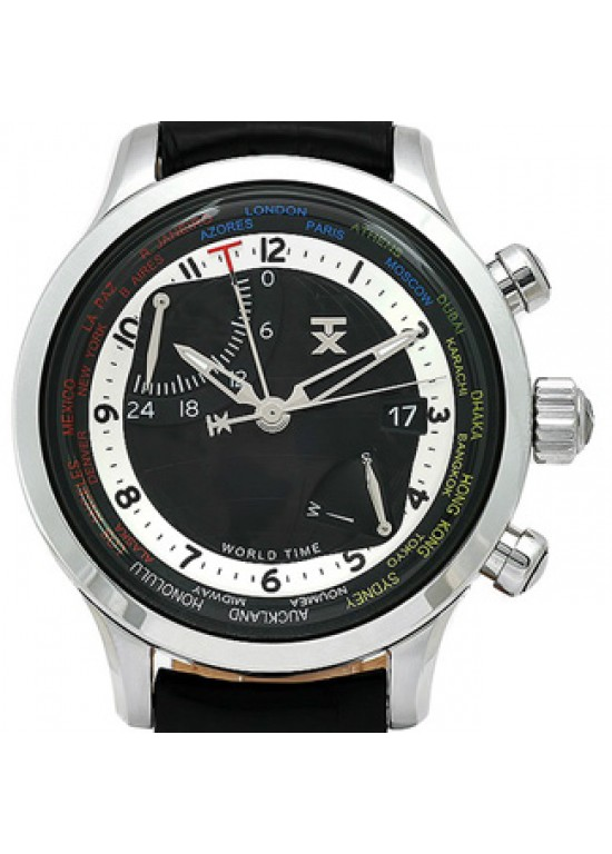 TX World Time Stainless Steel Mens Watch - T3C473-Dial