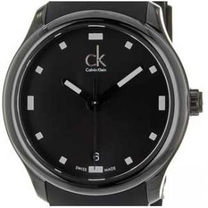 Calvin Klein Visible Black Stainless Steel Mens - K2V214D1-dial