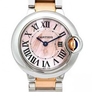 Cartier Ballon Bleu Stainless Steel Ladies Watch - W6920034-dial