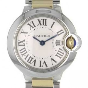 Cartier Ballon Bleu SS with 18kt Gold Ladies Watch - W69007Z3-dial
