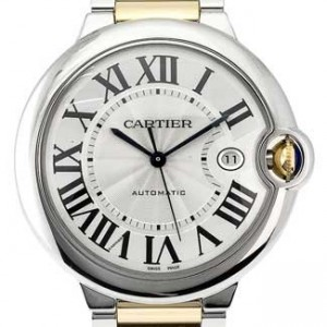 Cartier Ballon Bleu SS with 18kt Gold Mens Watch - W69009Z3-dial