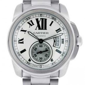 Cartier Calibre De Cartier Stainless Steel Mens Watch - W7100015-dial