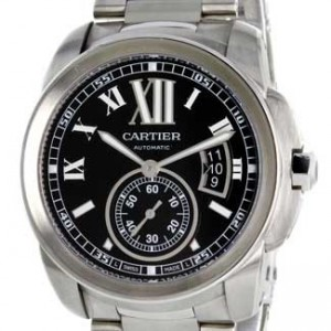 Cartier Calibre De Cartier Stainless Steel Mens Watch - W7100016-dial