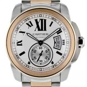 Cartier Calibre De Cartier Stainless Steel Mens Watch - W7100036-dial