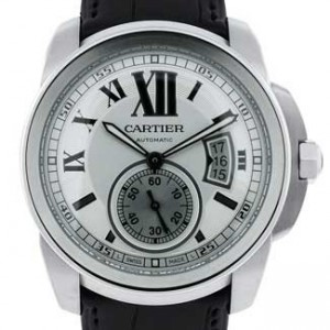Cartier Calibre De Cartier Stainless Steel Mens Watch - W7100037-dial