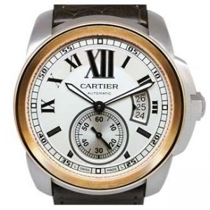 Cartier Calibre De Cartier Stainless Steel Mens Watch - W7100039-dial