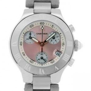 Cartier Chronoscaph Stainless Steel Ladies Watch - W1020012-dial