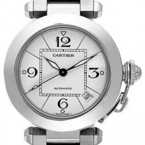Cartier Pasha Stainless Steel Mens Watch - W31074M7-dial