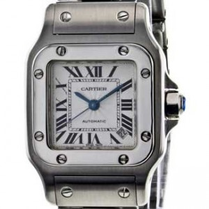 Cartier Santos Stainless Steel Ladies Watch - W20054D6-dial