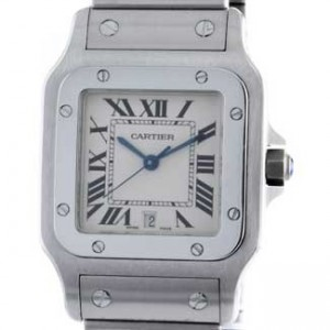 Cartier Santos Stainless Steel Mens Watch - W20055D6-dial