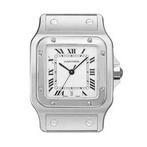 Cartier Santos Stainless Steel Mens Watch - W20060D6-Dial