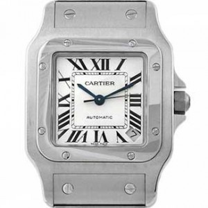 Cartier Santos Stainless Steel Mens Watch - W20098D6-dial