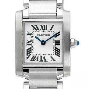 Cartier Tank Stainless Steel Ladies Watch - W51008Q3-dial
