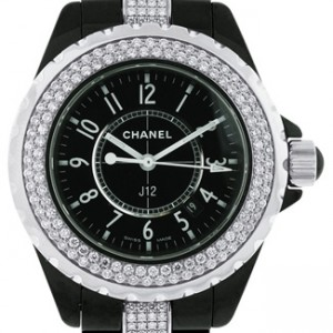 Chanel J12 Black Ceramic Unisex Watch - H1338-Dial