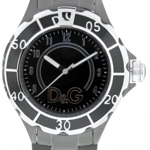 D&G Anchor Black Ion Plated Stainless Steel Ladies Watch - DW0662-dial