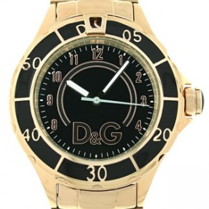 D&G Gabbana Rose Gold Ion Plated Stainless Steel Ladies Watch - DW0660-dial