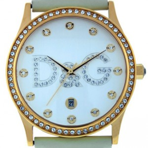 D&G Gloria Gold Ion Plated Stainless Steel Ladies Watch - DW0502-dial