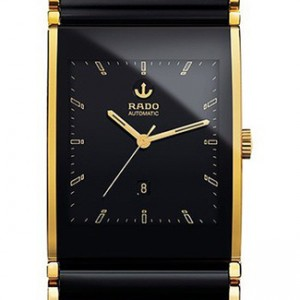 Rado Integral Two Tone Ceramic Mens Watch - R20847152-dial