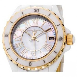 Swiss Legend Karamica White Ceramic Ladies Watch - SL-20050-WWGR-dial