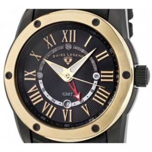 Swiss Legend Traveler Black Ion Plated SS Mens Watch-SL-10005G-BB-01GB-dial