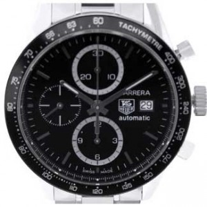 Tag Heuer Carrera Stainless Steel Mens Watch - CV2010.BA0794-dial