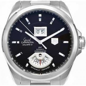 Tag Heuer Grand Stainless steel Mens Watch - WAV5113.BA0901-dial