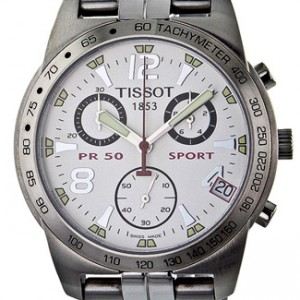 Tissot PR50 Stainless Steel Mens Watch - T34.1.588.32-dial