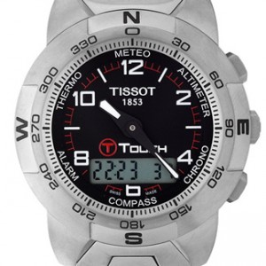 Tissot T-Touch Titanium Mens Watch - T33.7.788.51-dial