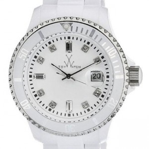 Toy Watch Plateramic White Plastic Unisex Watch - PCLS02WH-dial
