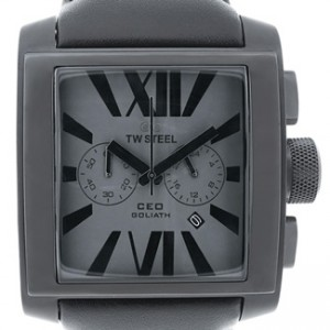 TW Steel CEO Goliath Black PVD Stainless Steel Mens Watch - CE3014-dial