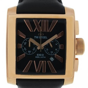 TW Steel CEO Goliath Stainless Steel Rose Gold PVD Mens Watch - CE3012-dial